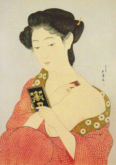 https://flic.kr/p/8JRroC | Japanese Art | In the Yokohama Museum of Art. Painted by Goyo Hashiguchi.