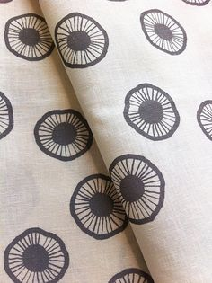 Potato print for sewing projects??Hand Printed Fabric, Fat Quarter (50 x 70cm) 'Urchin' in Clay