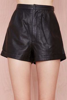 Nasty Gal Leather - The Satana Shorts $130.00