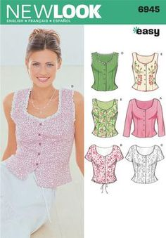 Womens Tops Sewing Pattern 6945 New Look