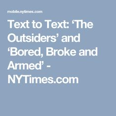 The outsiders text response