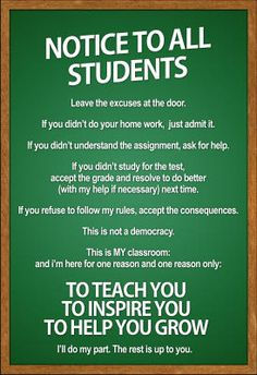 Yeah, I'm definitely showing this to my students at the beginning of the semester.    Rules poster.