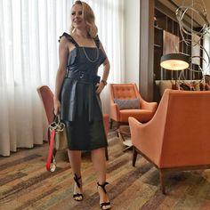 Para vcs que perguntaram, o vestido que usei é da @balie_oficial , marca de couros que amo - modelagem incrível e preço ótimo pois são fábricantes! É daqui de Rio Preto! 😉 P.s- não é publi!