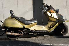 A golden scooter
