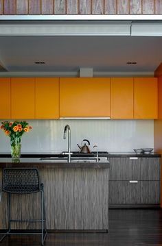 Rozelle Cottage - modern - kitchen - sydney - Scott Weston Architecture Design PL  **example of cabinet shortened to make room for pull out vent