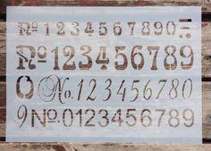 Shabby Chic Schablone Farbe Truhe Schrank Nostalgie Vintage DIY Stoff Zahlen-alt in Möbel & Wohnen, Hobby & Künstlerbedarf, Basteln | eBay