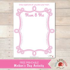 Free Mothers Day Activity by Busy Little Bugs