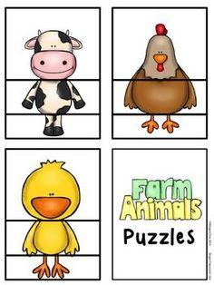Farm Animal Puzzles With Creativity! farm animals : Farm Animal Puzzles With Creativity! Farm Animals Preschool, Farm Animal Crafts, Preschool Themes, Preschool Farm Crafts, Farm Animals For Kids, Farm Kids, Farm Activities, Animal Activities, Infant Activities