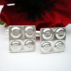 Silver Lego Cuff Links