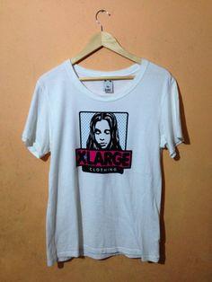Vintage x-girl xlarge clothing big logo sonic youth kim gordon company size one made in japan t-shirt