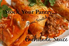 Are you trying to eat healthier? Make more things from scratch? Try this enchilada sauce recipe, and the taco seasoning to go with it.   via www.TheSurvivalMom.com