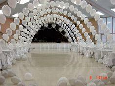 Balloons wedding arch reception