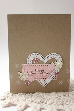 Happy Anniversary Card by Heather Nichols for Papertrey Ink (December 2013)