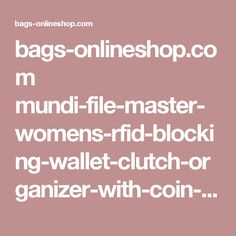 bags-onlineshop.com mundi-file-master-womens-rfid-blocking-wallet-clutch-organizer-with-coin-pocket