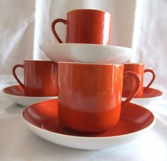 Hey, I found this really awesome Etsy listing at https://www.etsy.com/listing/182318741/vintage-1960s-set-of-5-burnt-orange