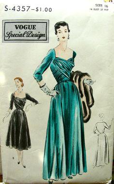 Vogue Special Design 4357 ©1952 Dress