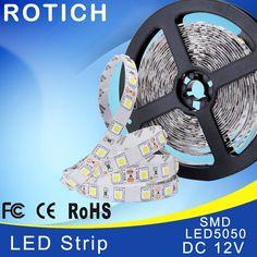 iluminacion led strip lamp rgb 5050 diode tape led light strip fita de 12v smd  tiras neon 5m christmas decoration