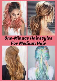 One-Minute Hairstyles For Medium Hair
