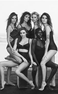 Miranda Kerr, Alessandra Ambrosio and more supermodels go nearly nude for photo shoot.