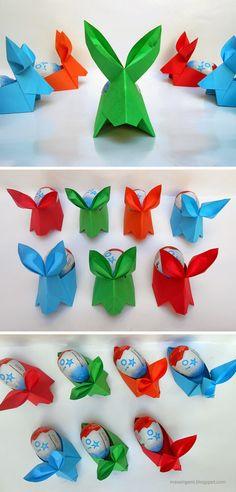 mas origami: Conejos de Pascua de origami