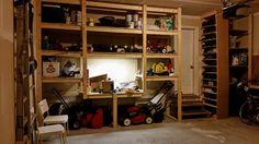 10 ft by 11 ft Garage shelve - elegant design, space saving, best concept.