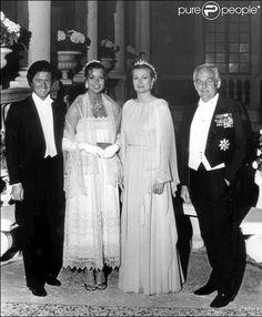 Grace Kelly, Prince Rainier de Monaco au mariage civil de leur fille caroline avec philippe junot