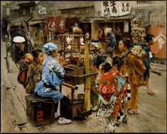 The Ameya (ca. oil on canvas, x cm, The Metropolitan Museum of Art. Meiji Japan daily life as depicted by Robert Frederick Blum. Fine Art Prints, Canvas Prints, Art Japonais, Colorful Paintings, Japan Art, Japanese Culture, American Artists, Art Blog, Geisha