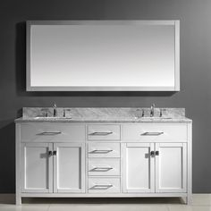 "Found it at Wayfair - Caroline 73"" Double Bathroom Vanity Set with Mirror"