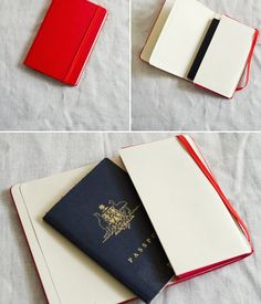 passport cover made from an old Moleskine mini notebook