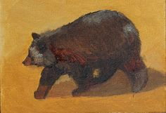 """Daily Painters Of Colorado: """"Black Bear Out For A Stroll"""" Original Wildlife, Black Bear Painting by Colorado Artist Susan Fowler Bear Paintings, Oil Paintings, Daily Painters, Wildlife Art, Black Bear, Contemporary Artists, Colorado, Moose Art, Lion Sculpture"""