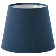 Use this classic textile shade to dress up the lamp base you found at the flea market or combine it with one of ours. The light shines through the fabric creating a soft, decorative light in the room. Textiles, Plastic Animals, Powder Coating, Lamp Bases, Recycled Materials, Light Decorations, Dark Blue, Led Lamp, Blue Nails