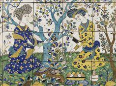 Panneau à scène de jardin. Département des Arts de l'Islam. © Musée du Louvre, dist. RMN - Grand Palais / Raphaël Chipault