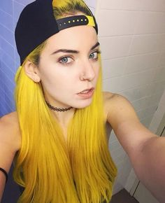 I've never seen yellow hair before, I dig it