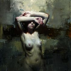 Jeremy Mann's style of figurative painting combines a series of techniques that contribute to the confident, complex and unmistakable nature of his work.