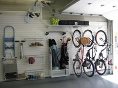 how to organize sports equipment in a garage - Google Search