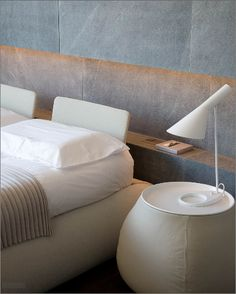 :: BEDROOMS :: INTERIORS :: Love this simple interior niche detail   Photo Credit: Giorgio Possenti   #interiors #bedrooms