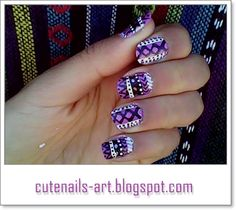 Aztec purple & white