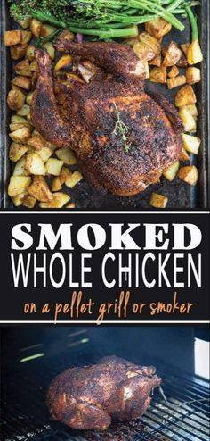 Grilled Whole Chicken, Smoked Whole Chicken, Cooking Whole Chicken, Smoked Pork, Electric Smoker Whole Chicken Recipe, Electric Smoker Recipes, Smoker Grill Recipes, Grilling Recipes, Chicken