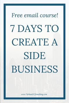 You don't have to quit your job to be an entrepreneur! Take this free e course and learn how to turn a hobby or side hustle into a profitable side business, all around your day job! Perfect for the busy young professional. Creating A Business, Starting A Business, Business Tips, Online Business, Business Planning, Hobbies That Make Money, New Hobbies, How To Make Money, Cheap Hobbies
