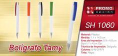 El artículo del día es el SH 1060 BOLÍGRAFO TAMY (MECANISMO TWIST.) Conoce más de él en www.promoopcion.com Material: Plástico Medida: 1.1x14.5 cm Área de impresión: 0.9x4.8 cm Barril/1x4 cm Clip Técnica de impresión recomendada: Serigrafía Colores: A/N/O/R/V Tinta: Negra  CONSULTA EXISTENCIAS Y PRECIOS CON TU EJECUTIVA DE CUENTA.