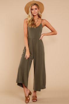 9e2bc2cab851 Chic Olive Jumpsuit - Trendy Jumpsuit - Jumpsuit -  48.00 – Red Dress  Boutique Mom Fashion
