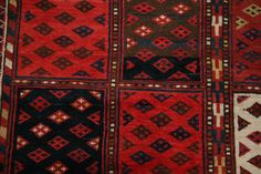 One of our beautiful 19th century Turkmen rugs.