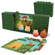 The Three Little Pigs,Toys,Paper Craft,Wolf,Fairytale ,Picture book,pig