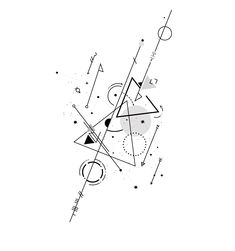 2nd version of Virgo. #tattoos #simple #geometric #virgo #arrow #sign #dot #minimalist #Moon #karma #morse #code #symbol #circle #black #white #star #sun #constellation #tattoo #line #nine #triangle #sun #earth #mercury #grey