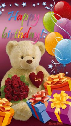 Animated Bear Happy Birthday Image Pictures, Photos, and Images for Facebook, Tumblr, Pinterest, and Twitter