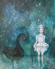 """""""Black Swan, Guide Me To Morning"""" by Maria Pace-Wynters - so dreamy & magical"""