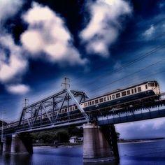 青い景色 / Blue landscape - @ue_mac- #webstagram Tower Bridge, Hue, My Photos, Landscape, Green, Pictures, Travel, Voyage, Trips
