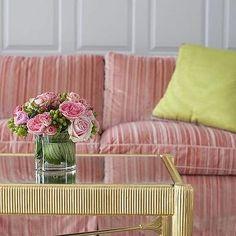 Striped Sofa, Eclectic, living room, Cynthia Brooks Design