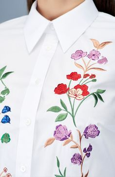 My Carmele Flower Blouse — Bora Bohème Ethical Fashion, Womens Fashion, White Shirts, Floral Tie, The Incredibles, Invitations, Style Inspiration, Flower Embroidery, Blouse