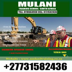 Bulldozer TLB, Grader Mobile Cranes training ( call us or Email u